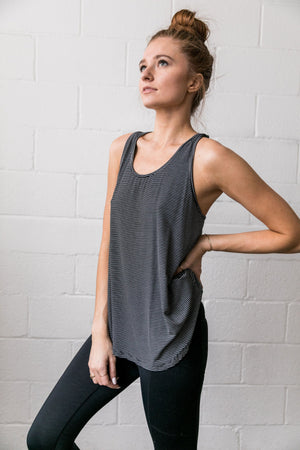 Win The Racerback Striped Tank