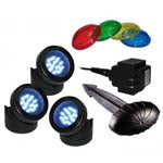 Alpine Luminosity LED 3 Pack Light with Photocell And Transformer