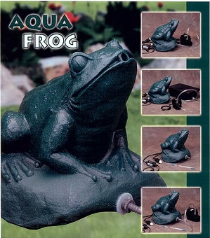 Aqua Ultraviolet Frog Statuary UV Models