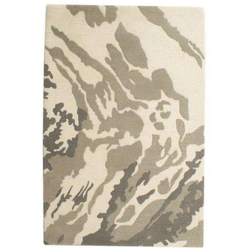 Camouflage handtufted wool Organic Weave Shop 2'9'' x 10' Neutral