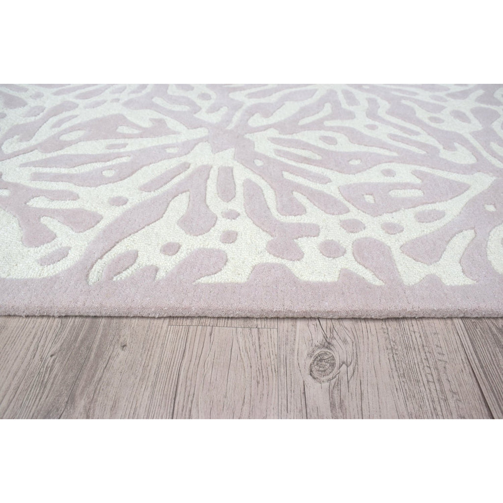 Quinn Pink Wool Rug handtufted wool Organic Weave Shop