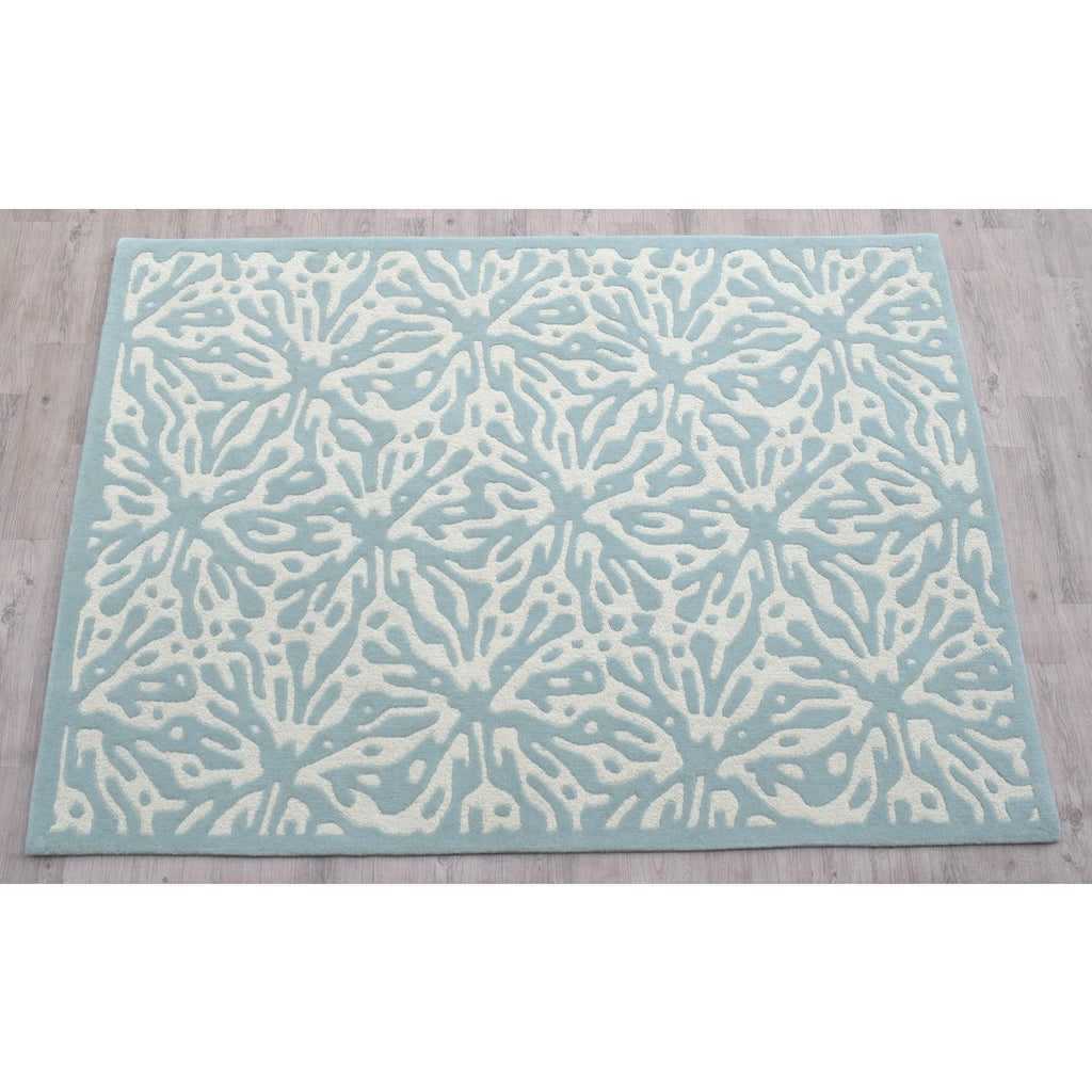 Quinn Turquoise Blue Wool Rug handtufted wool Organic Weave Shop