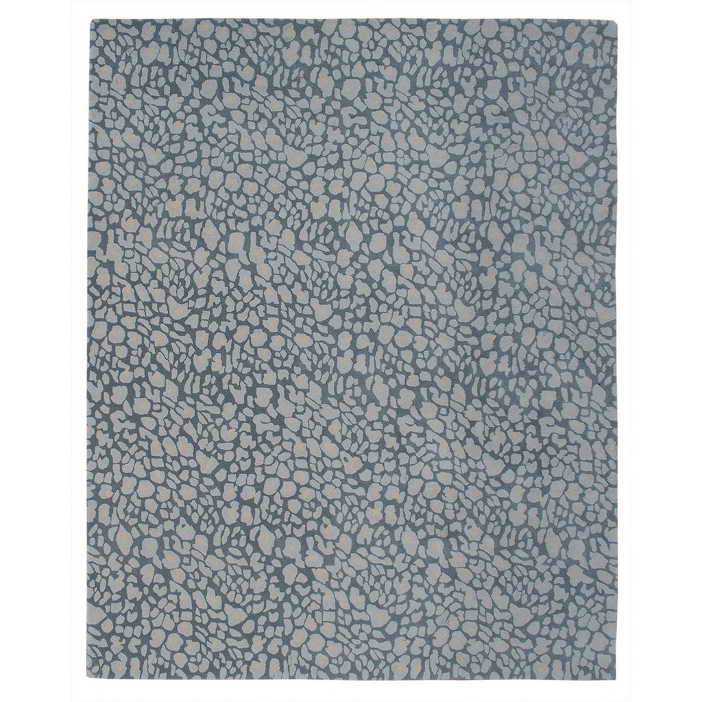 Stained Glass Grey Wool Rug 8x10 handtufted wool Organic Weave Shop