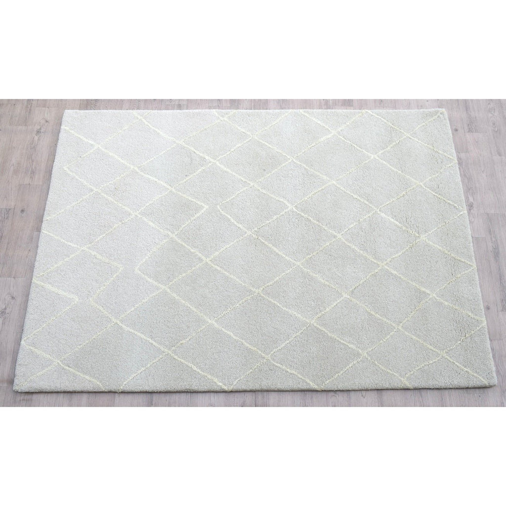 "Rebel Hope Wool+ Cotton Shag Taupe/Ivory SAMPLE samples Organic Weave Shop 12""x12"""