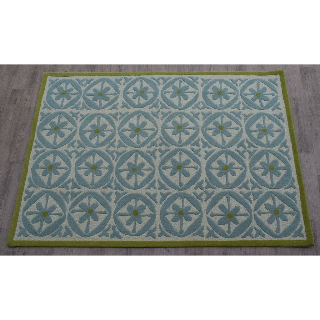Capri Wool Rug Azure SAMPLE samples Organic Weave Shop