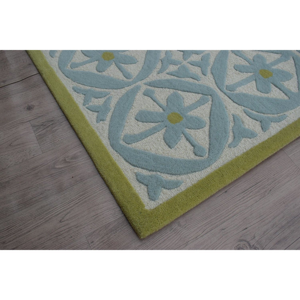 "Capri Wool Rug Azure SAMPLE samples Organic Weave Shop 12""x12"" Azure"