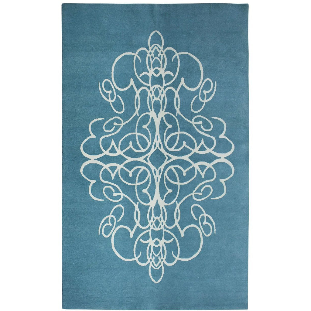 Take a Chance on Me Aqua handknotted tibetan 60 knot Organic Weave Shop 2'9'' x 10' Runner Aqua