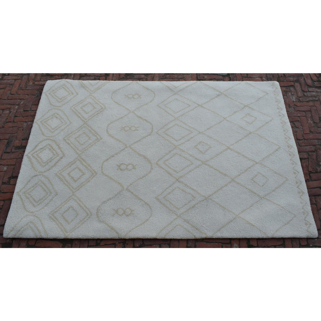 Rebel Fantasy Ivory/Sand handtufted wool + cotton shag Organic Weave Shop 6' x 9'