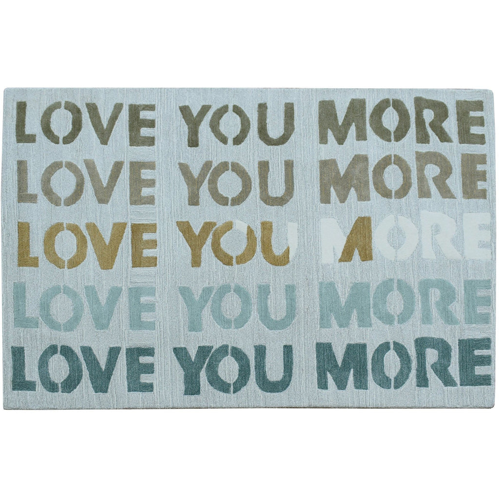 Love You More 4 x 6 Cotton Rug handtufted cotton Organic Weave Shop 4 x 6