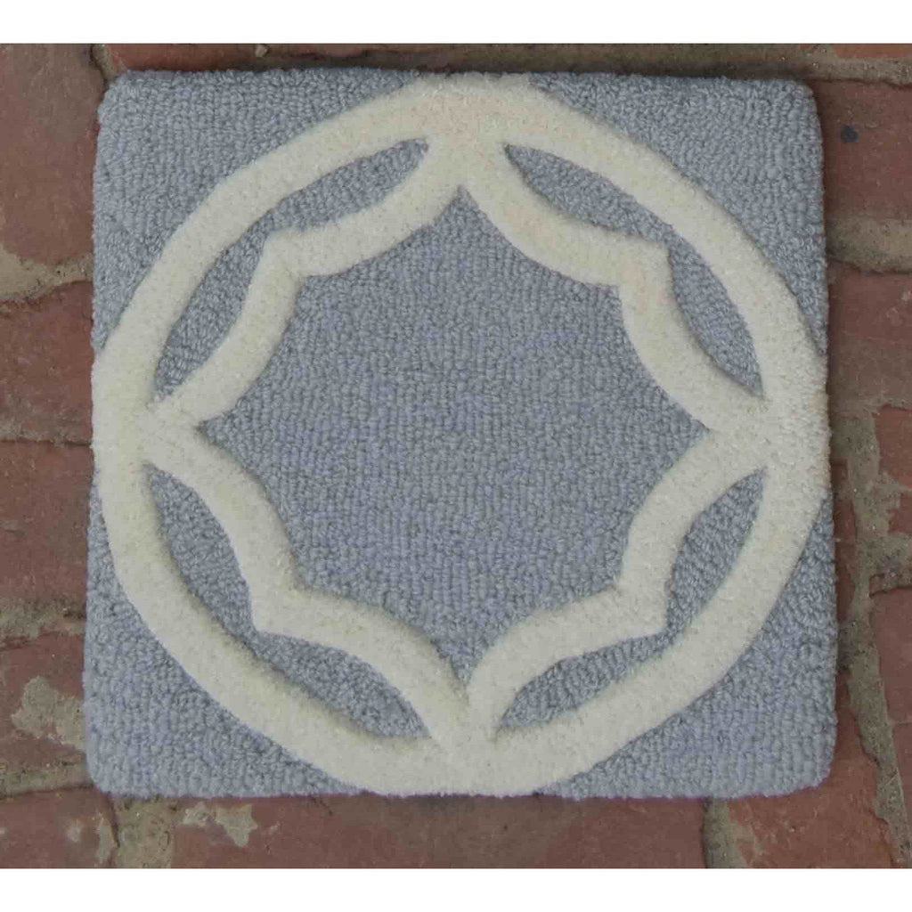 Tilly Trellis Grey handtufted wool Organic Weave Shop