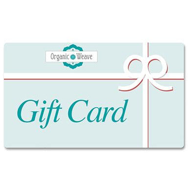 Organic Weave Gift Card samples Organic Weave Shop