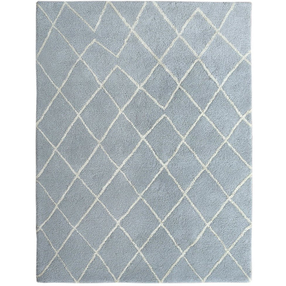 Rebel Hope Wool + Cotton Shag Grey/Ivory handtufted wool shag Organic Weave Shop 2'9'' x 10' Runner