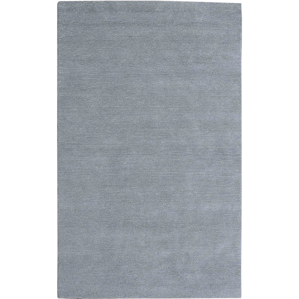 Signature Solid Strie Grey 5x8 handtufted cotton Organic Weave Shop