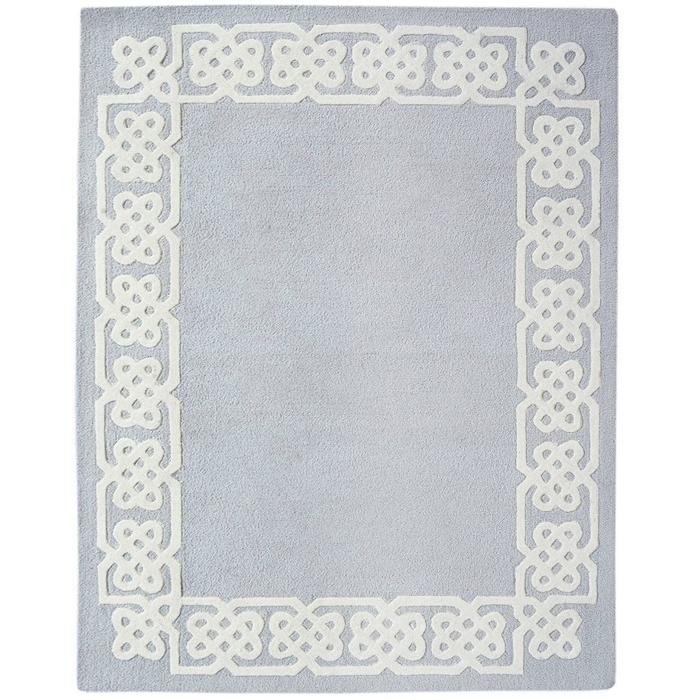 Worth Avenue Wool Rug Grey handtufted wool Organic Weave Shop