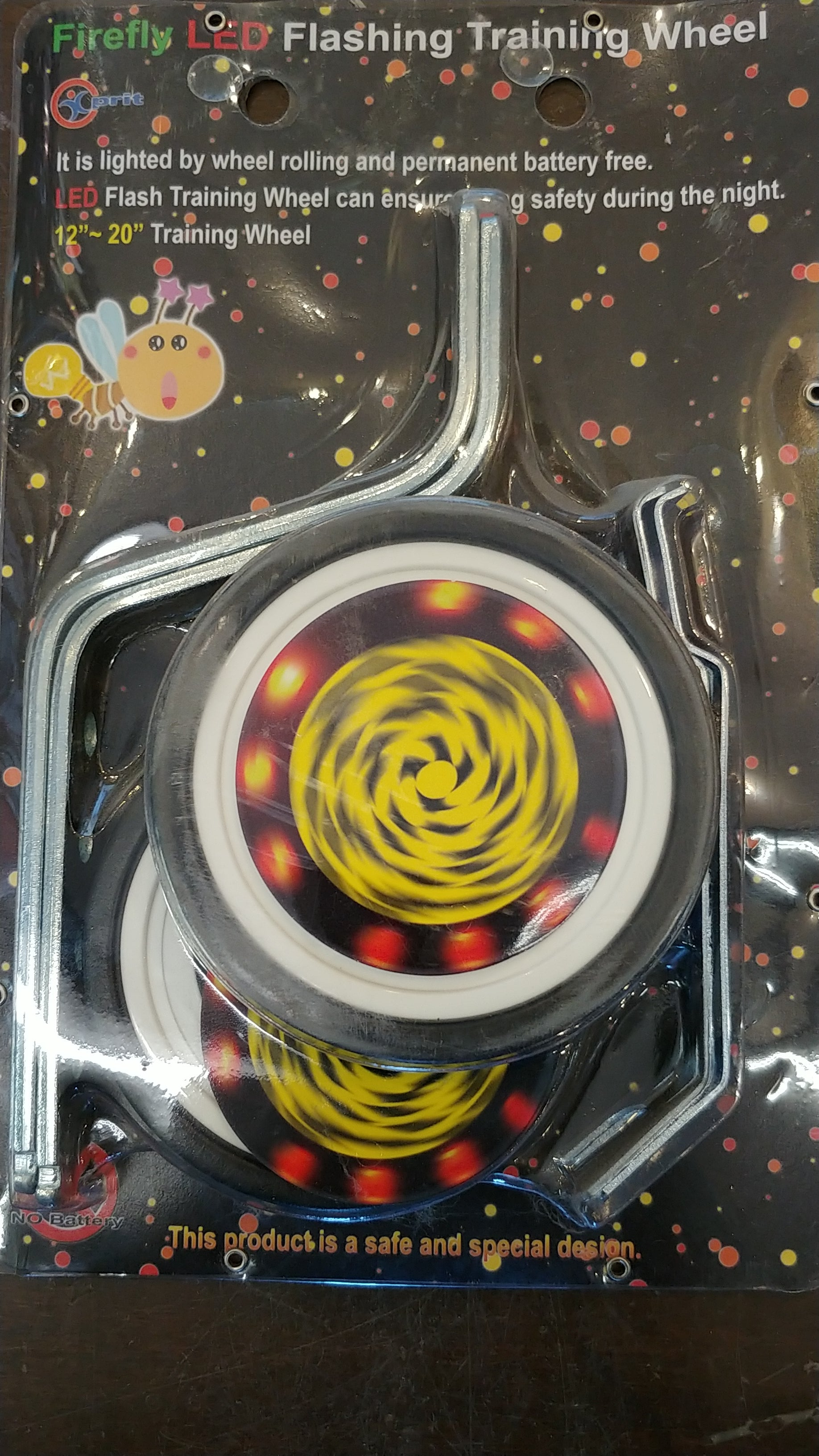 Roue d'entrainement firefly led flashing