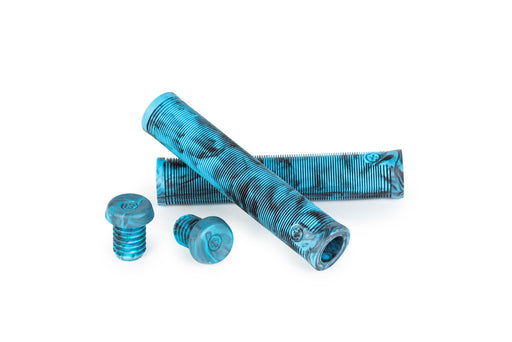 SALT PLUS XL GRIPS BLACK /CYAN MARBLE FLANGELESS
