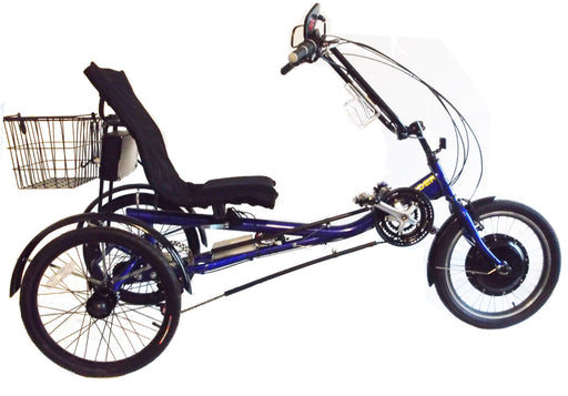 eTrike R2 blue electric recumbent trike