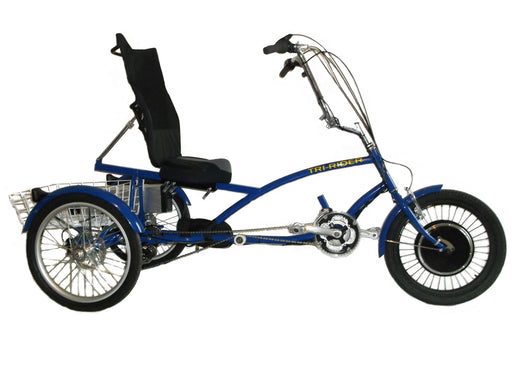 eTrike R3 blue electric recumbent trike