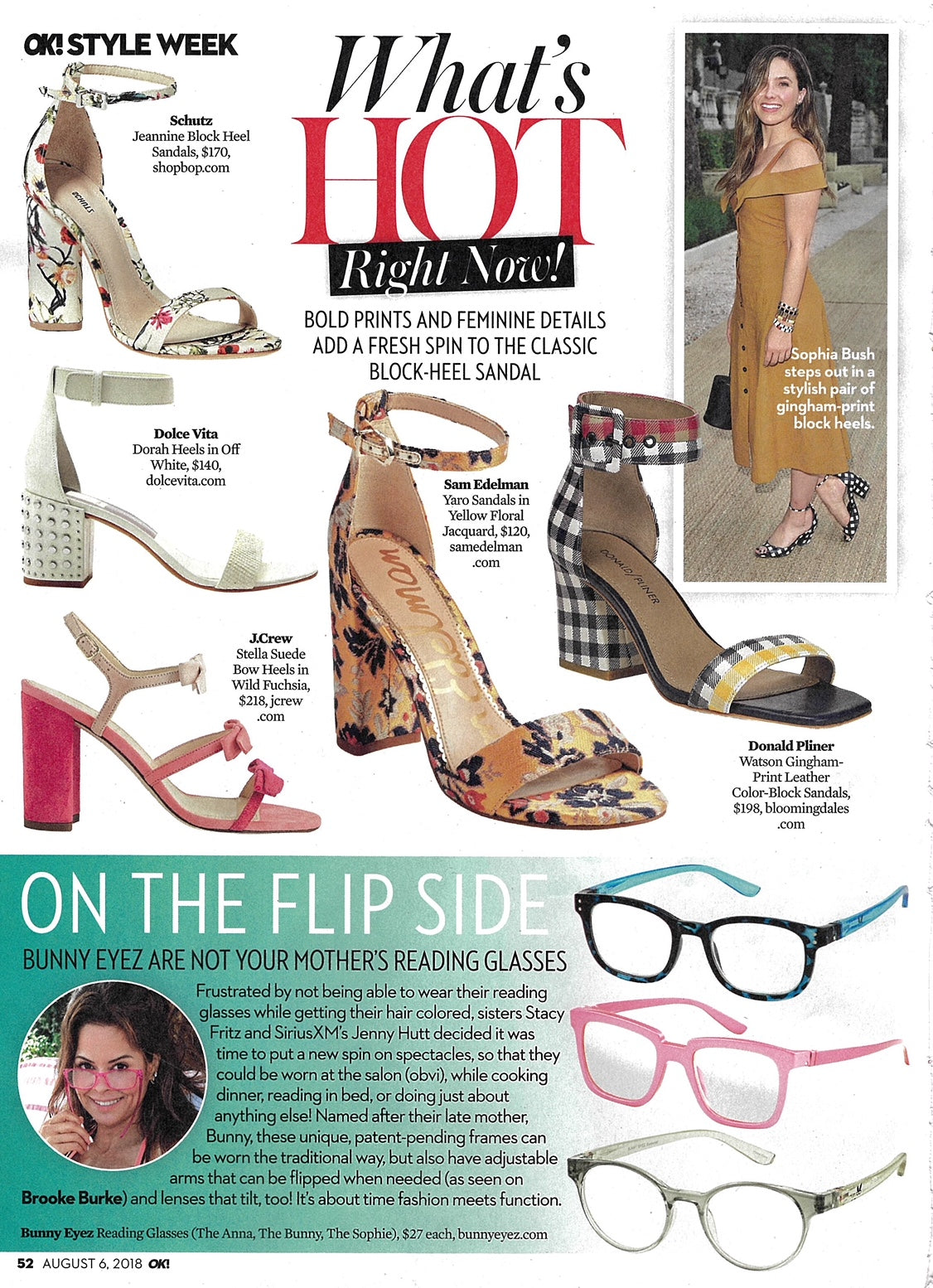 "Ok! Magazine features Bunny Eyez readers in ""what's hot right now"" section"