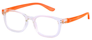 Bunny Eyez Reader Anna - Clear/Popsicle Orange