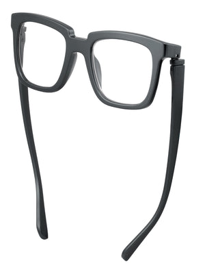 Bunny Eyez Bunny Readers - Glossy Gunmetal Grey - Down position