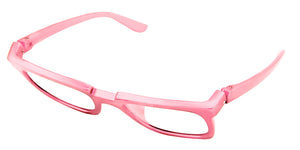Bunny Eyez Bunny Readers - Glossy Petal Pink - Tilted position