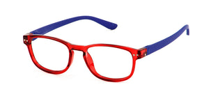 Erica Red/Royal Blue Lens Readers | Bunny Eyez
