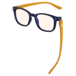 Kaley Blue Screen Lens Reader in Navy/Gold