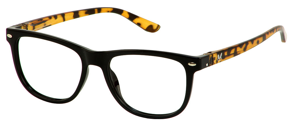 Bunny Eyez Guyz Keith Readers in Faux Brown Tortoise/Black