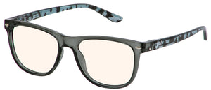 Bunny Eyez Guyz Keith Blue Light Readers Grey/Navy Faux Tortoise