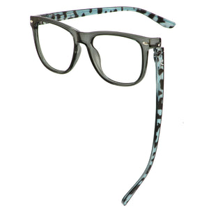 Bunny Eyez Guyz Keith Readers in Grey/Navy Faux Tortoise