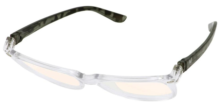 Bunny Eyez Guyz Keith Blue Light Readers Crystal/Grey Faux Tortoise