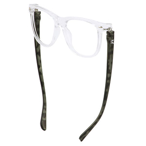 Bunny Eyez Guyz Keith Readers in Crystal/Grey Faux Tortoise