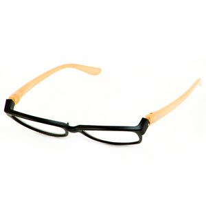 Bunny Eyez Minnie Readers in Black/Peach