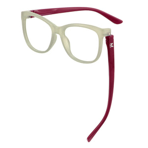 Penelope Blue Light Readers Grey/Raspberry  | Bunny Eyez