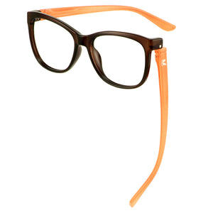 Penelope Blue Light Readers Brown/Melon | Bunny Eyez