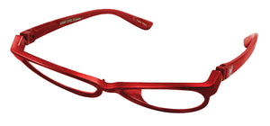 Bunny Eyez Raquel Readers - Sparkle Ruby Red - Tilted