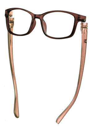 Bunny Eyez Ruthie Readers - Caramel Brown Crystal - Down position