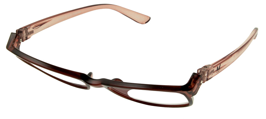 Bunny Eyez Ruthie Readers - Caramel Brown Crystal - Up position