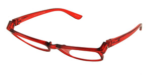 Bunny Eyez Ruthie Readers - Candy Apple Red Crystal - Tilted