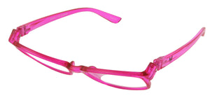 Bunny Eyez Ruthie Readers - Pretty In Pink Crystal - Tilted