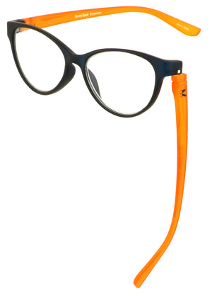 Bunny Eyez Raquel Readers - Navy/Matte Orange