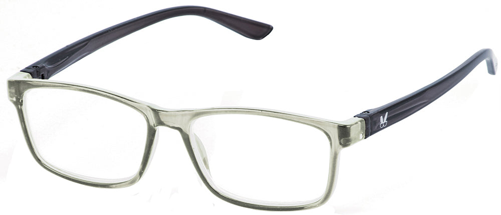 Bunny Eyez Jacob Reader in Crystal/Dark Grey
