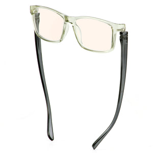 Bunny Eyez Guyz Blue Screen Lens Reader in Grey Crystal/Dark Grey