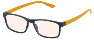 Bunny Eyez Guyz Blue Screen Lens Reader in Matte Navy/Yellow
