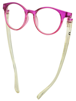 Bunny Eyez Sophie Readers - Fuschia Pink And Diamond Clear Crystal - Down position