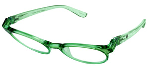 Bunny Eyez Sophie Readers - Spring Green Crystal - Tilted