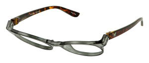 Bunny Eyez Readers - Tuxedo Black And Tortoise Crystal - Tilted