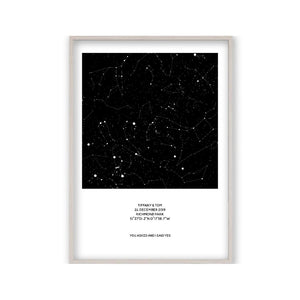 Personalised Night Sky Star Map Print