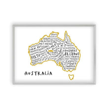 Load image into Gallery viewer, Australia Typography Map Print - Blim & Blum